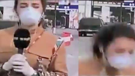 Libano, reporter collassa in diretta tv: ha febbre alta