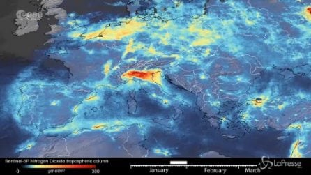Italia bloccata da coronavirus, in netto calo l'inquinamento