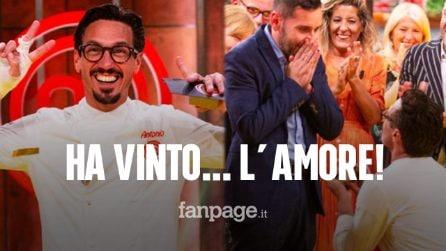 """Masterchef Italia 2020, vince Antonio Lorenzon poi la proposta al compagno: """"Mi vuoi sposare?"""""""