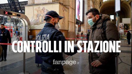 Coronavirus, controlli in stazione Centrale a Milano: ma per passare basta un'autocertificazione