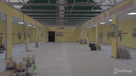 Coronavirus, il cantiere della terapia intensiva costruita con i fondi raccolti da Fedez e Ferragni