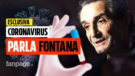 """Coronavirus, parla Fontana: """"Quindici giorni di sacrifici, e il virus sarà solo un brutto ricordo"""""""