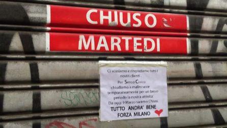 Il coronavirus ferma la movida, a Milano silenzio spettrale