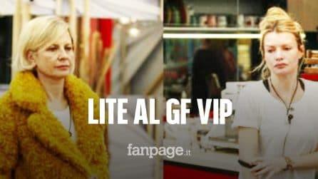 """GF Vip, lite tra Antonella Elia e Licia Nunez, Fabio Testi: """"Abbiamo altri ca**i per il cervello"""""""