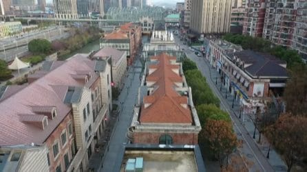 Coronavirus, le strade deserte di Wuhan viste dall'alto