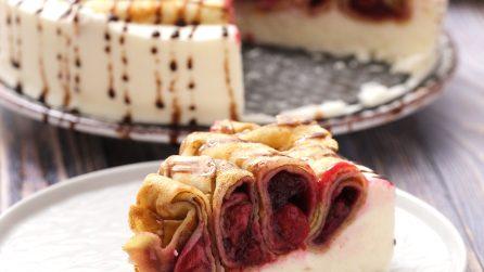 Cheesecake di crepes: il dolce originale che non vedrete l'ora di preparare!