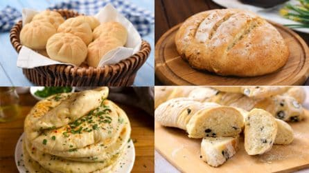 10 ricette incredibili per fare un pane gustoso in casa!