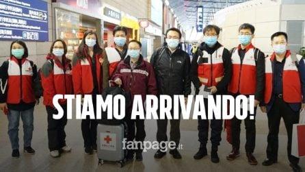 """Coronavirus, arrivano in Italia i medici cinesi esperti in COVID-19: """"Adesso è una lotta globale"""""""