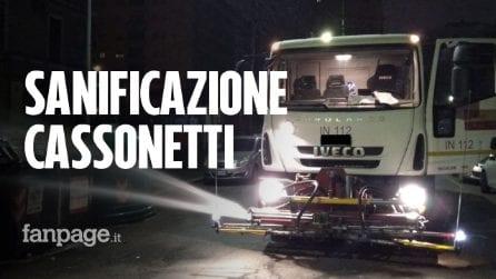 Coronavirus, sanificati 16mila cassonetti a Roma