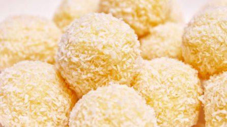 Tartufini al cocco con due ingredienti: il dessert veloce che piace a tutti