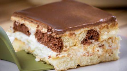Quadrotti cremosi con savoiardi: il dolce senza cottura a cui non saprete resistere!