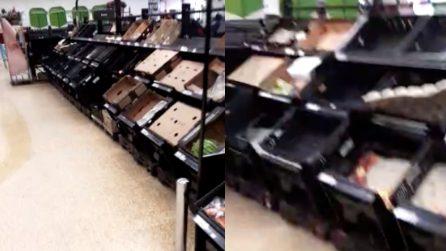 Emergenza Coronavirus, supermercati quasi vuoti nel Regno Unito