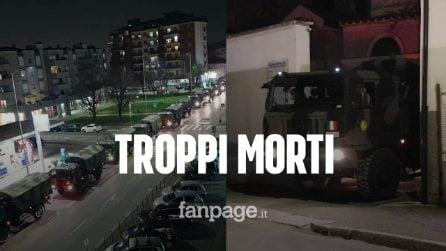 Coronavirus, troppi morti a Bergamo: carovana dell'esercito trasporta le bare fuori regione