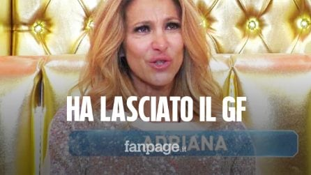 """Adriana Volpe lascia il Grande Fratello Vip: """"Ho delle cose da risolvere veramente importanti"""""""