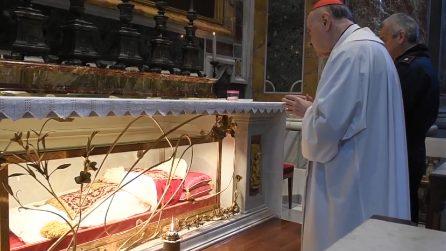 Bergamo, la supplica del Cardinale Comastri davanti alle spoglie di Papa Giovanni XXIII