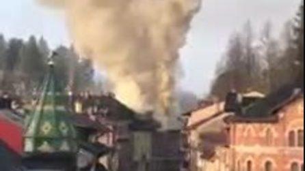 Asiago, grande incendio in una caserma di carabinieri nella notte