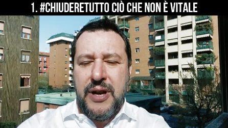 """Matteo Salvini scrive a Mattarella: """"Chiudiamo tutte le attività e riapriamo il Parlamento"""""""