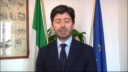 """Il messaggio del ministro Speranza: """"Sacrifici di tutti indispensabili per battere il Coronavirus"""""""