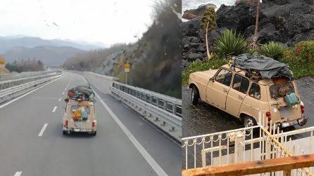 La Renault 4 arrivata fino in Sicilia è stata fermata ad Aci Trezza