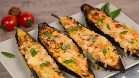 Barchette di melanzane ripiene di uova: facili, veloci e saporite!