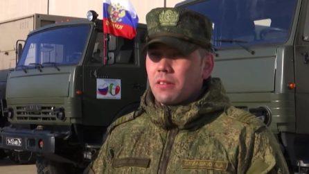 """Coronavirus, medici militari russi a Bergamo: """"Nostro reggimento esiste per aiutare le persone"""""""
