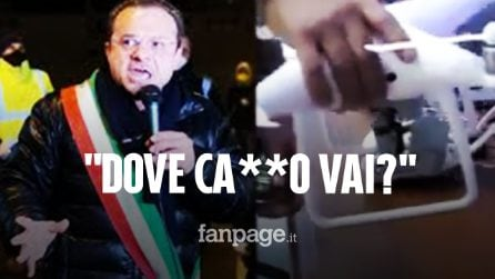 """Coronavirus, i droni con la voce del sindaco De Luca: """"Dove ca**o vai, torna a casa"""""""