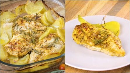 Baked chicken with potatoes: the method to make it tender and perfect!