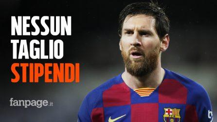 Coronavirus, Barcellona: Messi e compagni rifiutano di ridursi lo stipendio