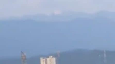L'inquinamento diminuisce e l'Himalaya si vede a 200 km di distanza