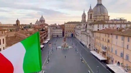 Esibizione da brividi con una Roma deserta: il video è commovente