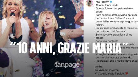 """Emma dedica a Maria De Filippi i 10 anni dalla vittoria ad Amici: """"Grazie per aver creduto in me"""""""