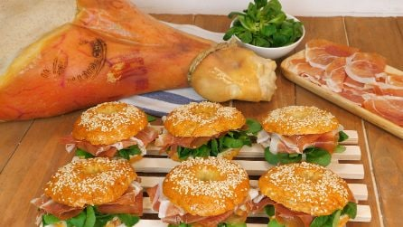 Bagels con Prosciutto di Carpegna DOP