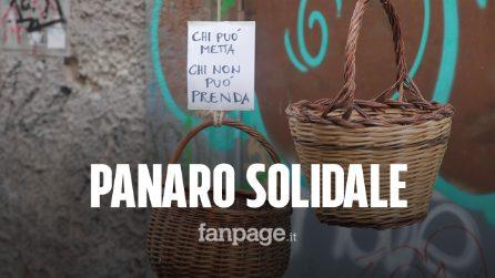 """Coronavirus Napoli, paniere solidale per donare o prendere cibo: """"Chi può metta, chi non può prenda"""""""