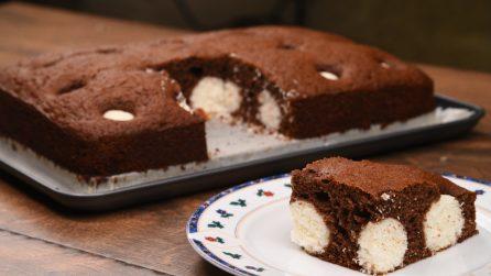 Torta cocco e cioccolato: il suo cuore soffice e goloso vi lascerà senza parole!