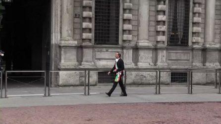 A Milano il minuto di silenzio di Sala per le vittime di Covid-19
