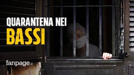 """Coronavirus, a Napoli la quarantena nei bassi: """"È come stare in galera, non ce la facciamo più"""""""