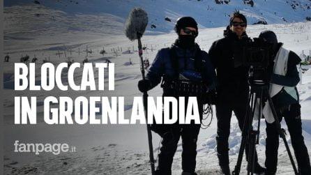 """Troupe cinematografica in Groenlandia: """"Bloccati in un paesino isolato con vento a 200 km/h"""""""