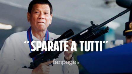 """Filippine, il pugno duro del Presidente Duterte contro chi viola la quarantena: """"Sparate a tutti"""""""