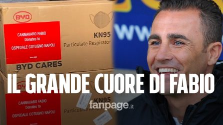 """Fabio Cannavaro dalla Cina manda mascherine all'ospedale Cotugno: """"Ti aspettiamo in Italia, grazie!"""""""