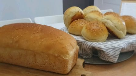 Panini per hamburger e pane in cassetta: un unico impasto, due ricette