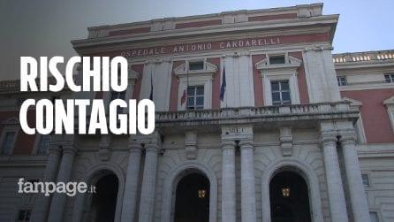 """Pazienti sospetti Covid ricoverati nei reparti non Covid al Cardarelli: """"Si rischia il contagio"""""""