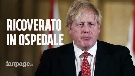 Coronavirus, Boris Johnson è in ospedale: ha ancora febbre alta e tosse