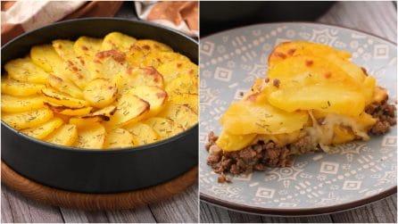Torta di carne e patate: il secondo piatto saporito che non vedrete l'ora di preparare!