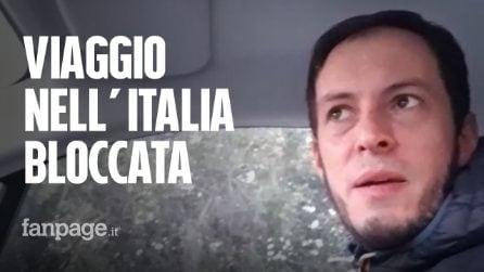 """Un medico dalla Sicilia a Torino: """"In auto attraverso l'Italia deserta per aiutare chi soffre"""""""