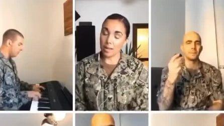 I soldati americani cantano 'O Sole Mio, per omaggiare l'Italia