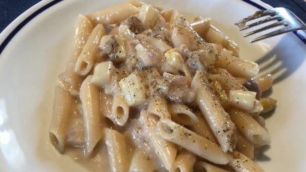 Pennette con asparagi bianchi e gorgonzola: la ricetta del primo piatto strepitoso