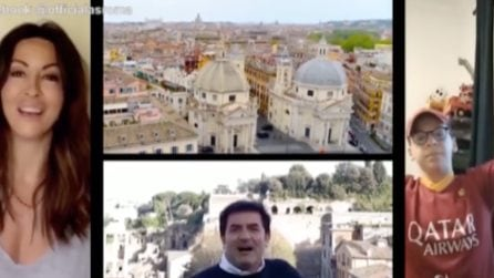 """""""Torneremo a cantarla"""": Attori, sportivi e musicisti intonano l'inno della Roma"""