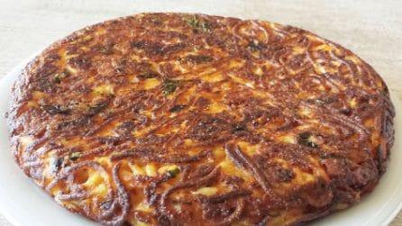 Frittata di spaghetti: la ricetta del piatto ricco e gustoso