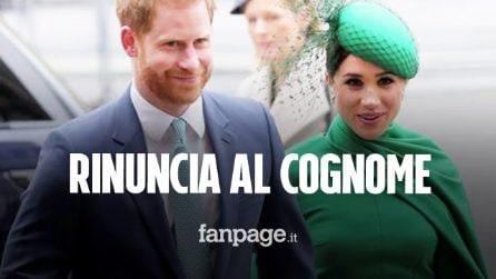 Harry rinuncia al cognome reale Mountbatten-Windsor: c'è lo zampino di Meghan Markle?
