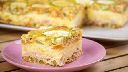 Sformato di zucchine e uova: un'idea semplice e veloce per una cena piena di gusto!